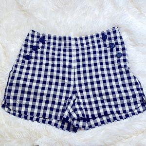 Ann Taylor Loft Blue White Nautical Shorts Size 2